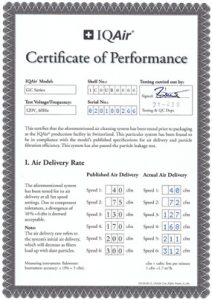 Certified Performance