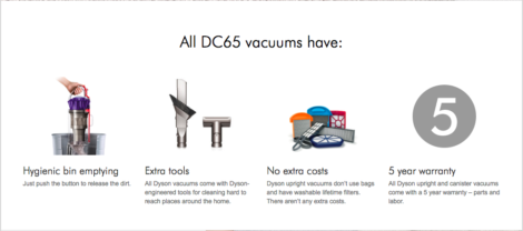 All Dyson DC65 Vacuums Highlands Ranch, Denver Dealer