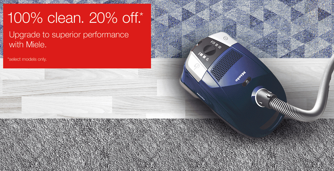20% Off Miele Sep 2017 Offer